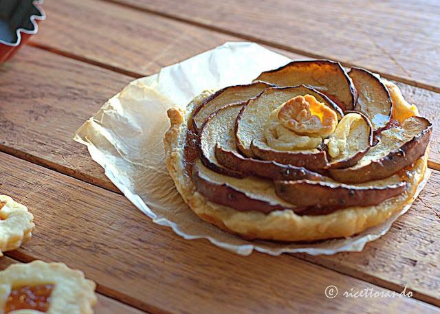 crostatine con marmellata di mele