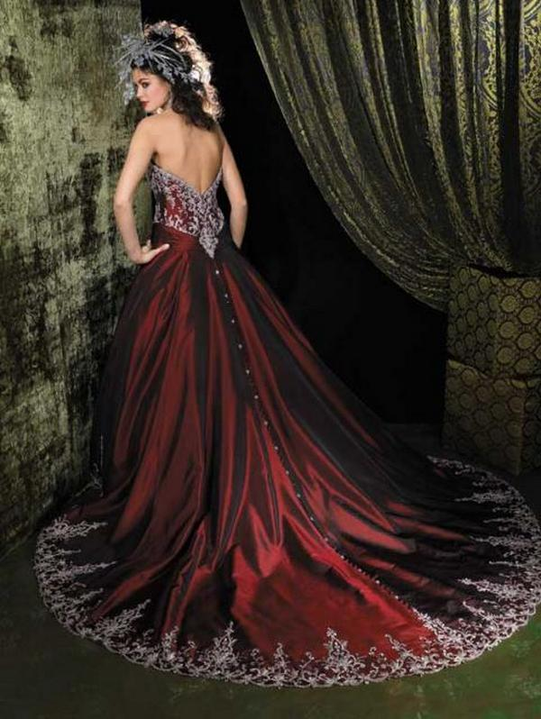 Red And Black Wedding Dresses 46 Inspirational Simplesmente fabulosos
