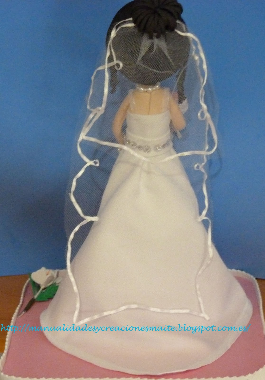 Como hacer vestido novia fofucha