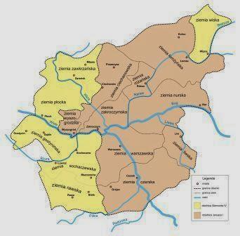 Mapa Mazowsza (1381-1426)