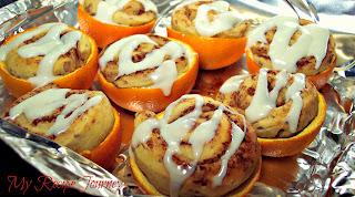 Cinnamon Rolls Grilled in Orange Peels!