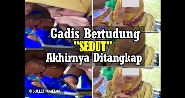 Viral Aksi Gadis Melayu Bertudung Sedut Dadah Ketamine Akhirnya Ditagkap