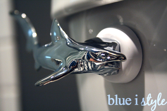 Replace toilet tank lever with shark lever