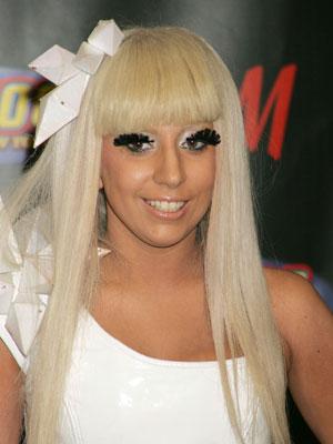Lady Gaga pretty hair eye lashes