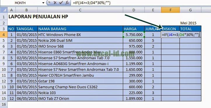 membuat laporan penjualan HP