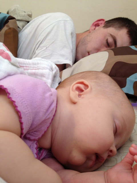 co-sleeping, baby, newborn, baby girl.
