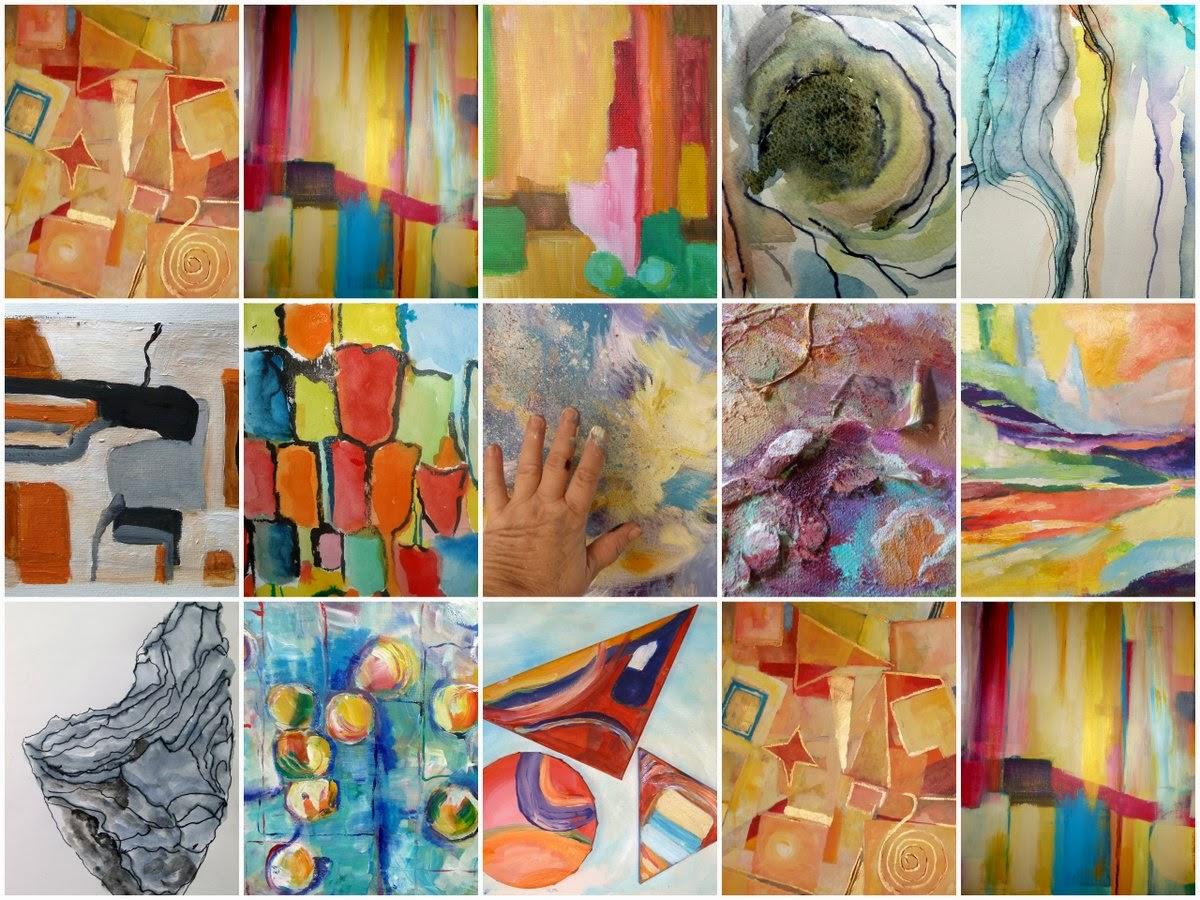 Impressie van mijn abstracte werk