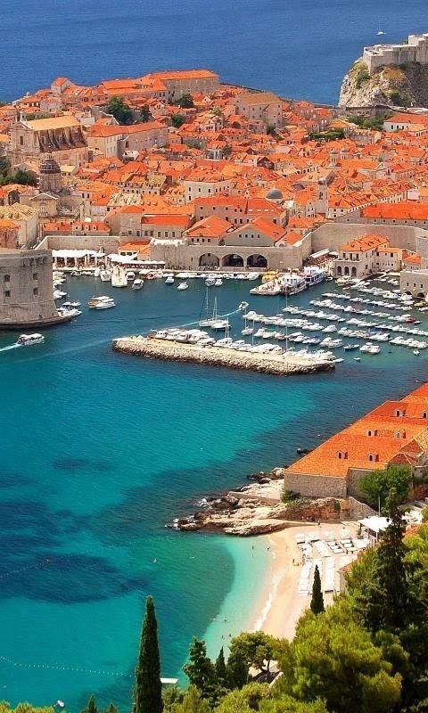 Coast in Dubrovnik, Croatia.