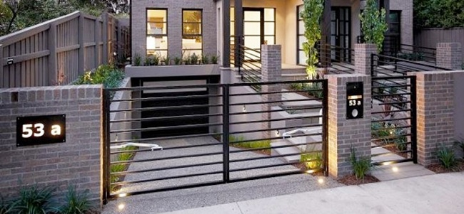 Pagar rumah besi minimalis