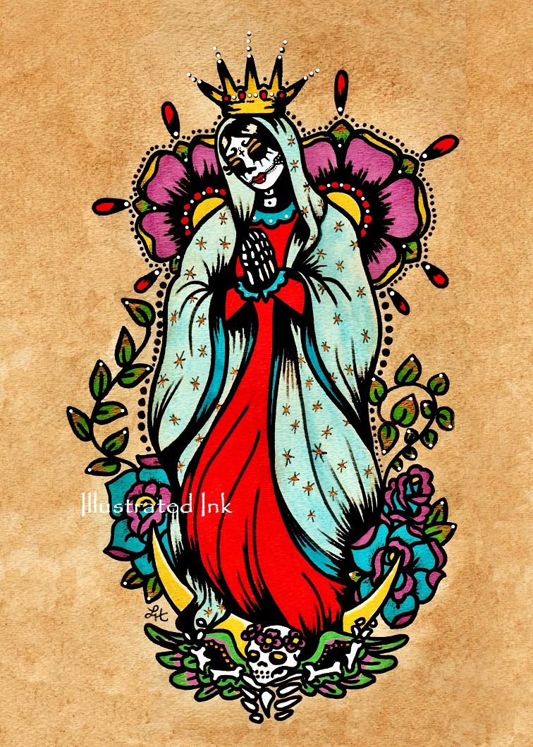 Tattoo tales virgen de guadalupe art print giveaway for Virgen de guadalupe tattoo