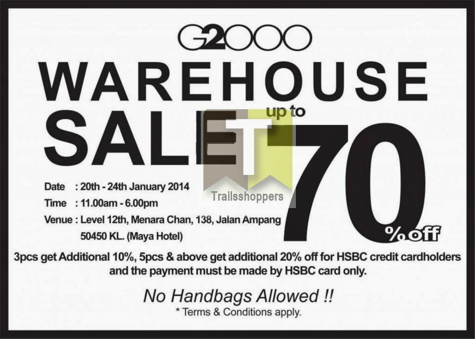 G2000 Apparels Warehouse Sale