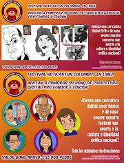 Jornada de caricatura en línea pro fondos Noticartún Colombia 2020