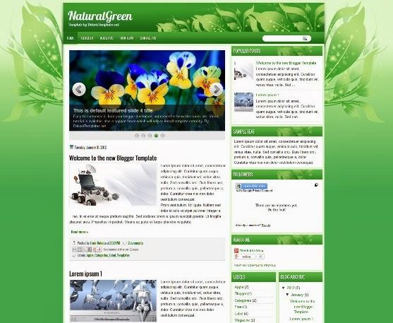 NaturalGreen Blogger Template