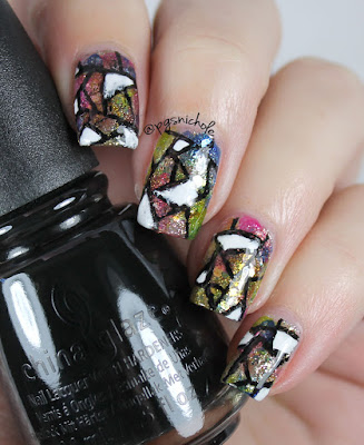 40 Great Nail Art Ideas: Black & White + Stained Glass