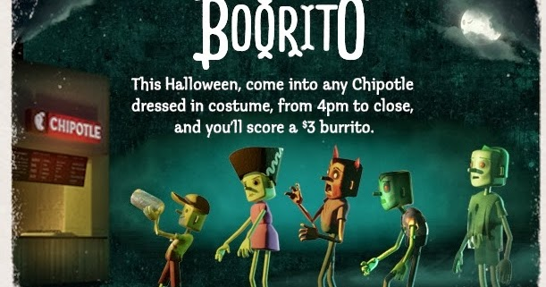 News: Chipotle - Come in Costume for $3 Burrito on Halloween ...