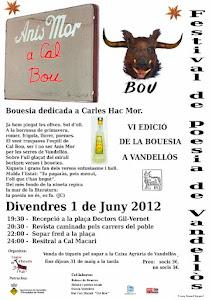 FESTIVAL DE POESIA DE VANDELLÒS 2012