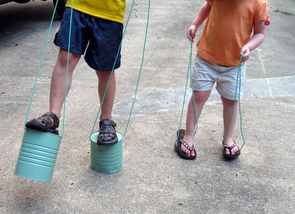 Ходули для детей на веревках