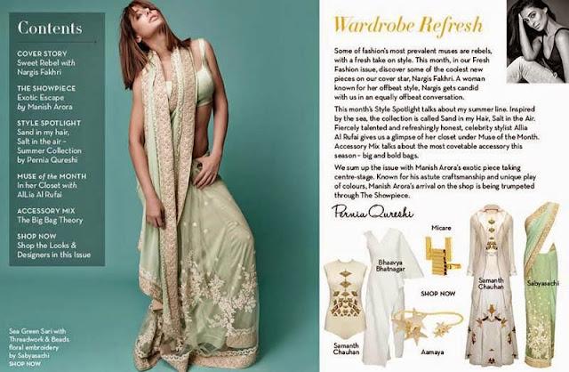 Nargis Fakhri Photoshoot for fresh fashion