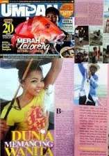 saya dalam Majalah Umpan