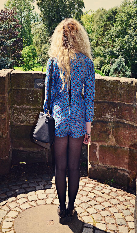 molly playsuit motel, stephi lareine, blonde, uk fashion blog, stephilareine.com, asos truffle, primark bag