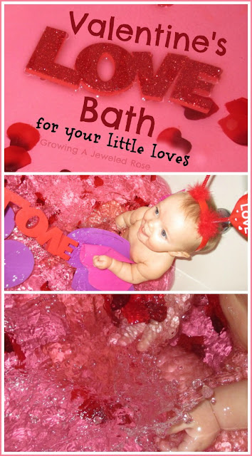Create a special bath for your children on Valentine's Day as a way to make it special for them