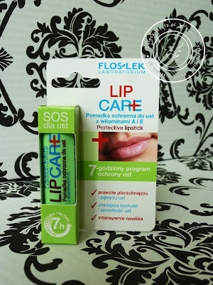 Wybawca w chłodne, jesienne dni czyli Lip Care pomadka ochronna do ust z witaminą A i E od Floslek