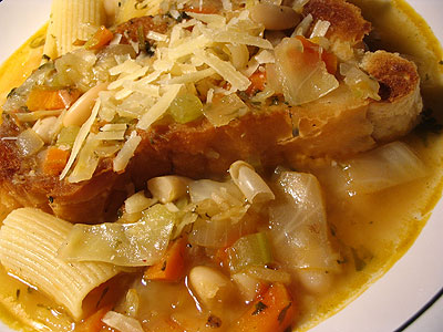 White Cabbage and Bean Minestrone