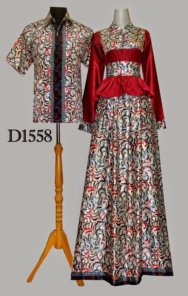 Model Baju Batik Gamis D1558