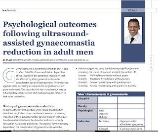 Psychological outcomes following ultrasound-assisted gynaecomastia reduction in adult men