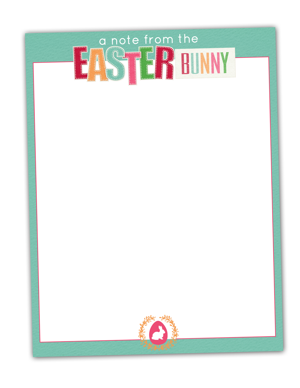 easter bunny letter template word vatoz atozdevelopment co