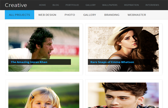 Creative Gallery Blogger Template 2014