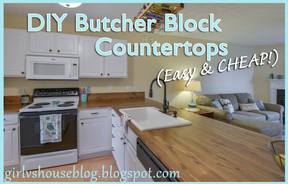 Girl vs House Butcher block countertops