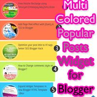 Awesome Multi-Colored Popular Posts Widget for Blogger powered CSS3