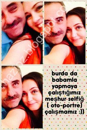 babamla selfie çekmece