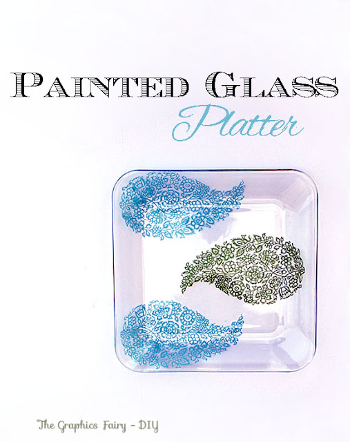 Make a Painted Glass Platter for Mother's Day