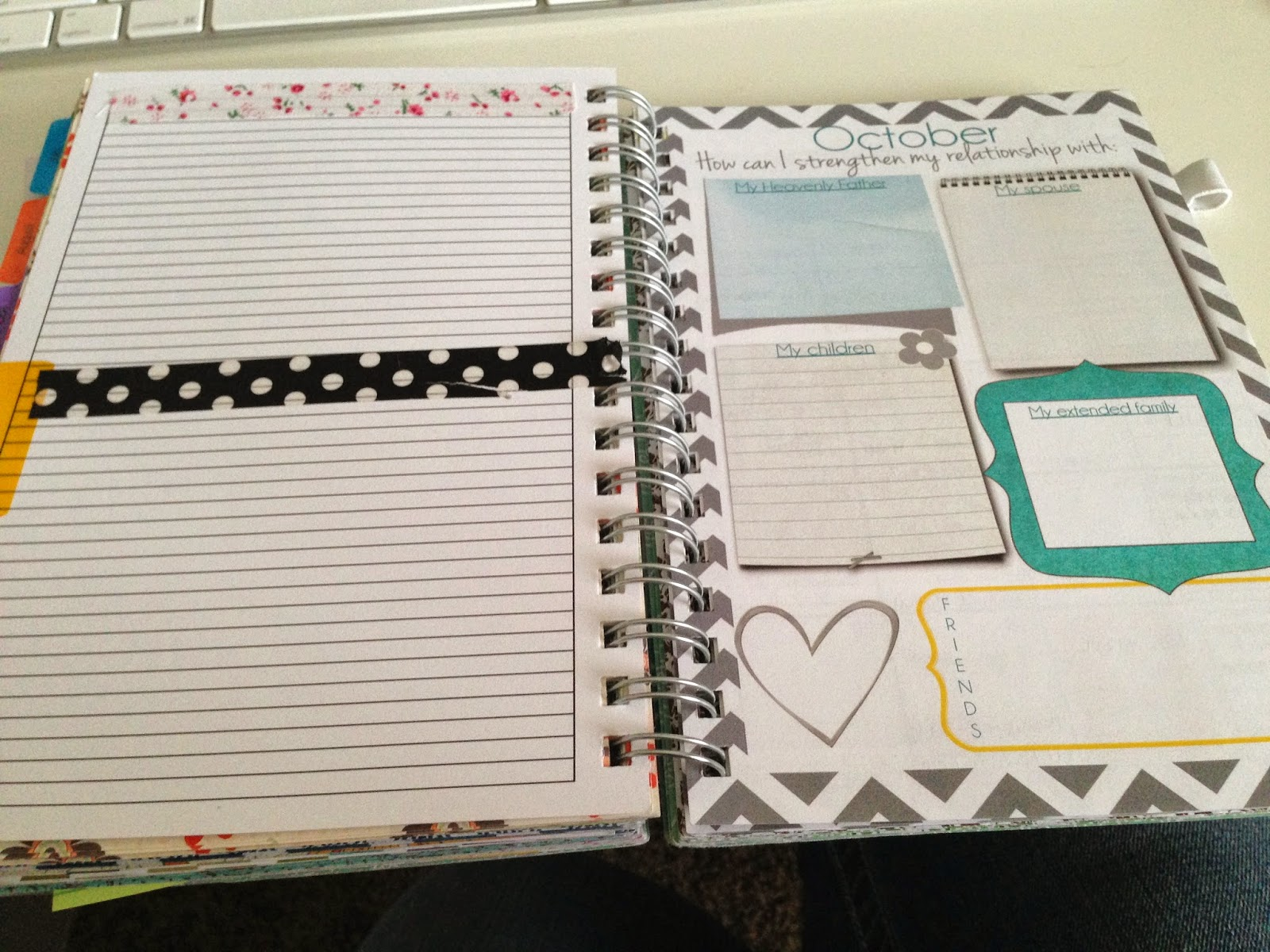 Mormon Mom Planners Monthly Plannerweekly Planner Using Washi