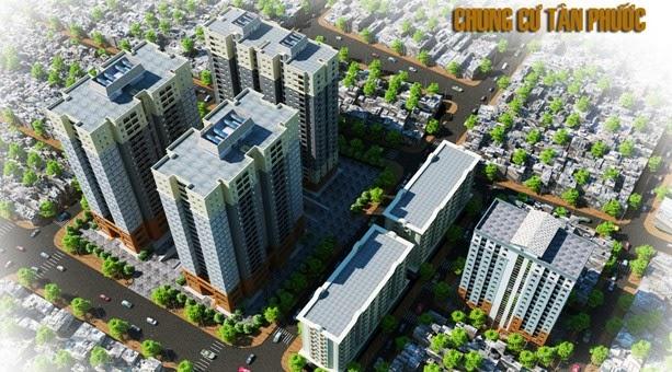 Tổng thể căn hộ chung cư Tân Phước