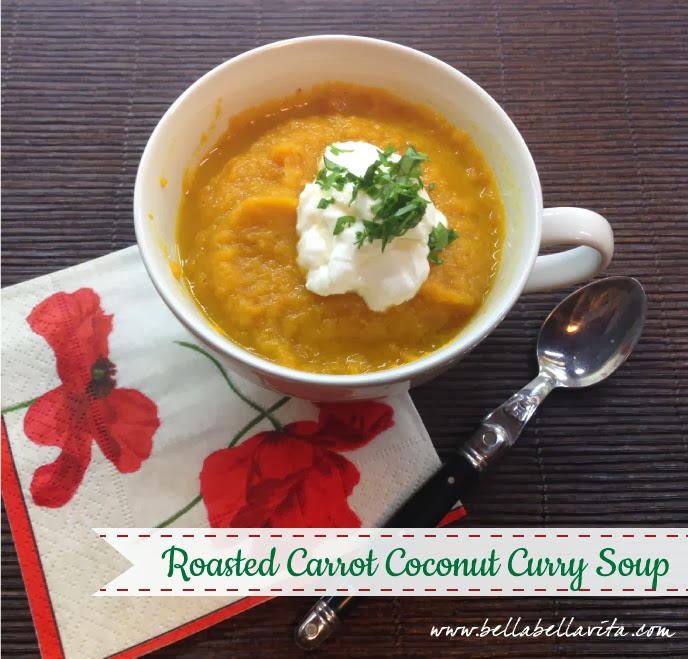 Roasted Carrot Coconut Curry Soup recipe