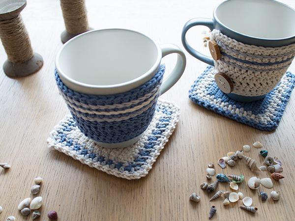 Set de Sujeta Taza a Crochet