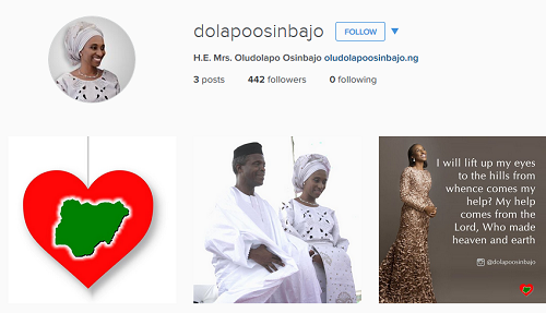 Wife Of Nigeria 's Vice - President, Dolapo Osinbajo Joins Instagram
