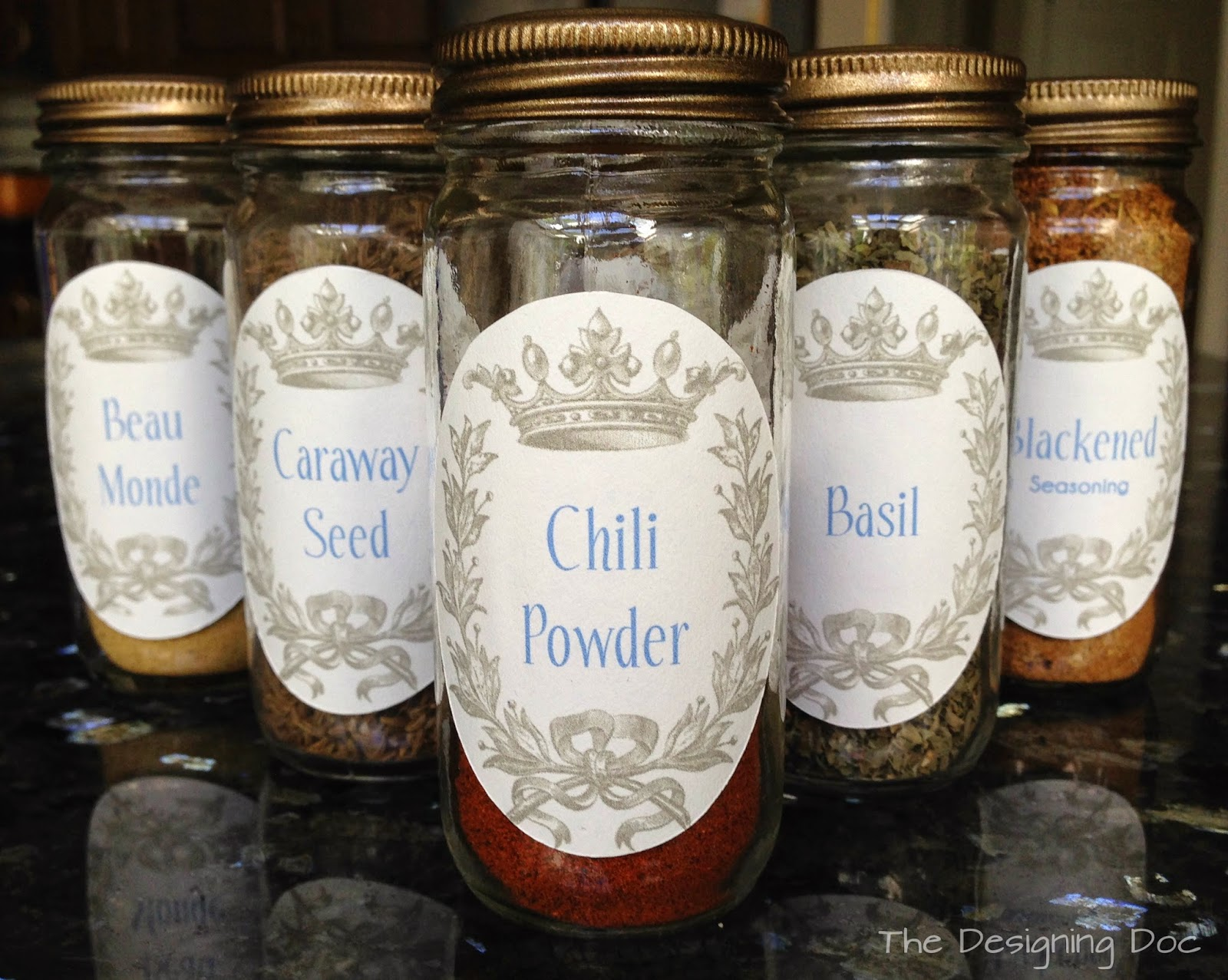 label spice jars