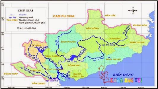 Bản đồ sông đồng nai