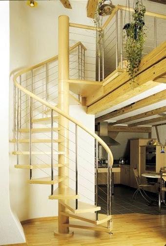 Tipos de escaleras para el interior de la casa cocinas for Escalera interior casa
