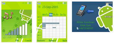 ANDROID機器人SonyEricsson手機主題for Elm/Hazel/Yari/W20﹝240x320﹞