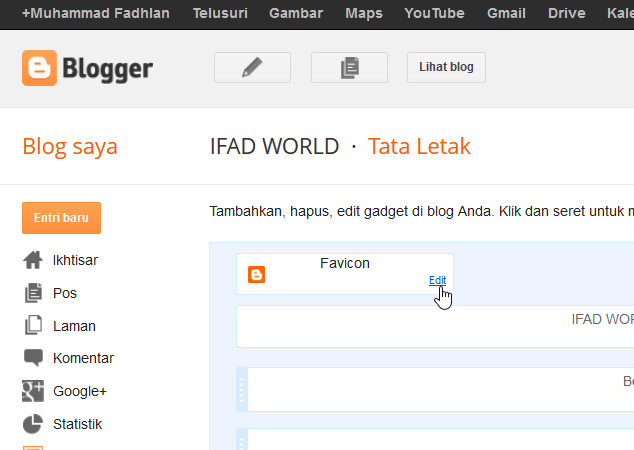 IFAD WORLD: Cara mengganti Logo Blog [100% Work & Success ...