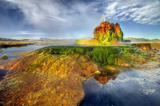 gunung berapi amerika kuning kuning