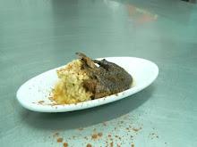 Cocinando en el Albergue Municipal de Soto en Cameros Pichon al Chocolate con Calostros