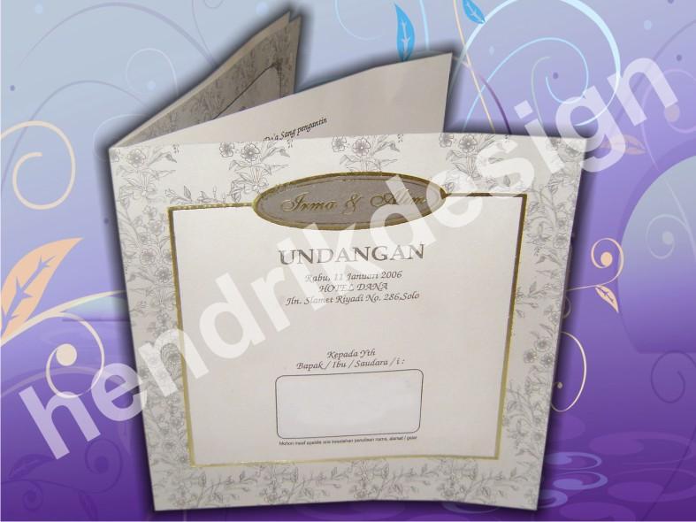 model desain undangan pernikahan ini kami namakan und banko 05 desain