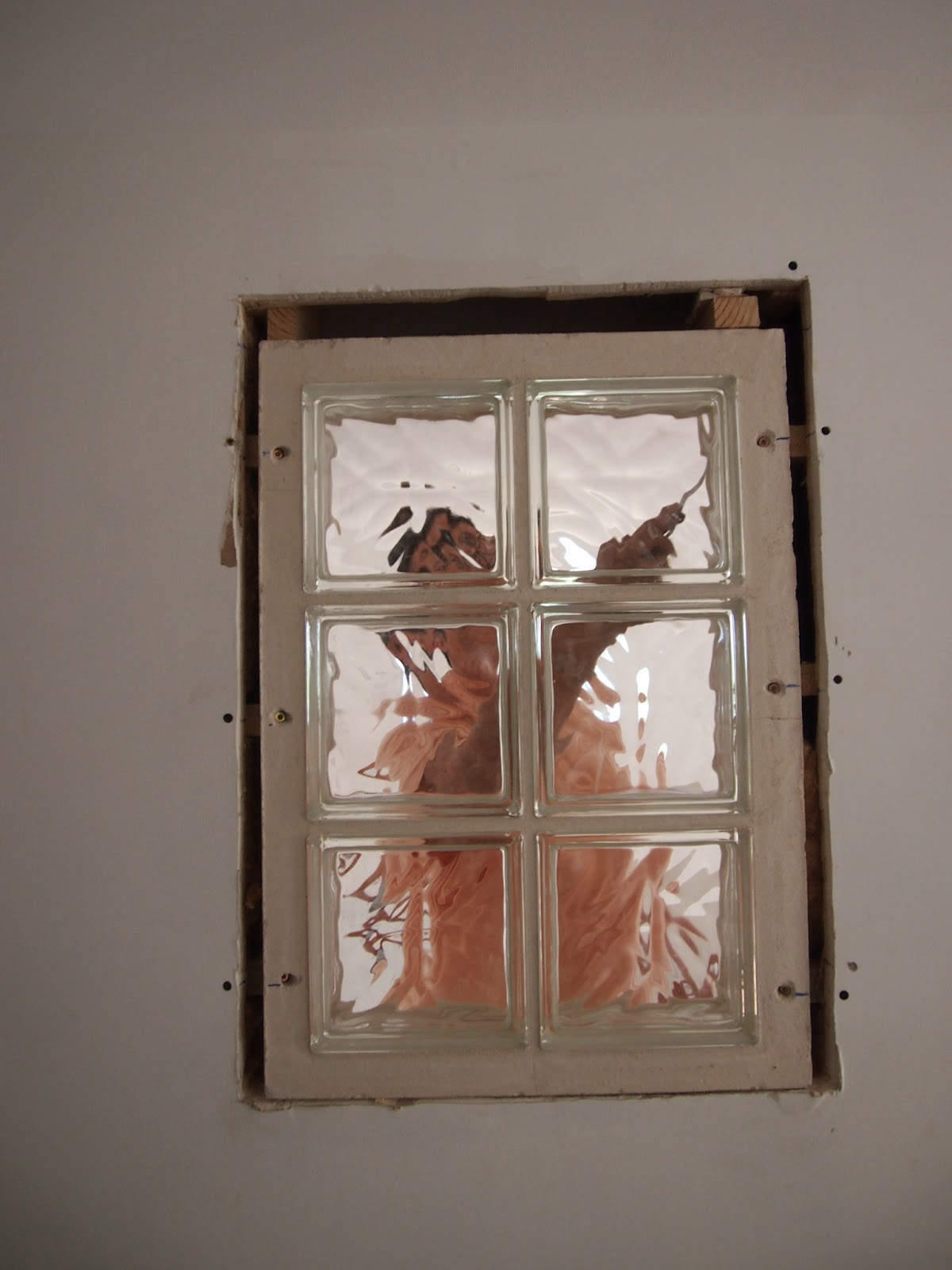 Notre nid au paradis fen tre en brique de verre for Fenetre carreaux de verre