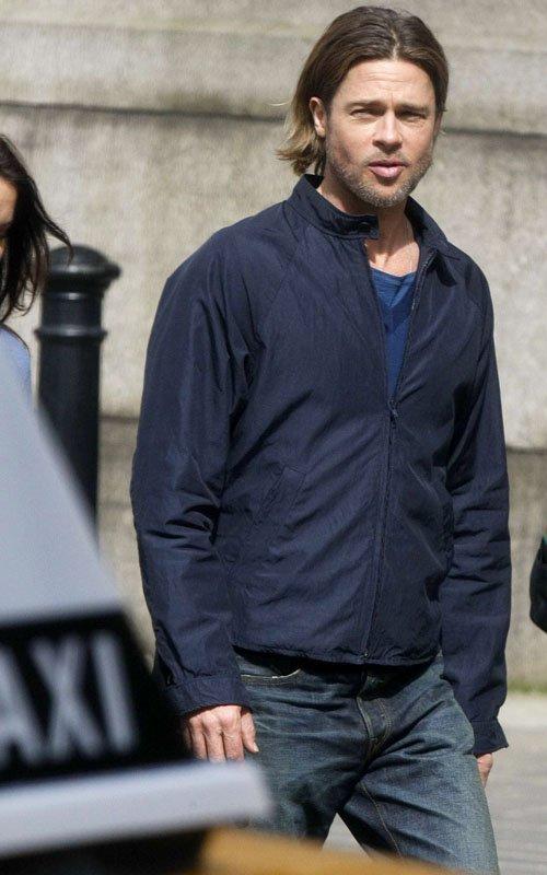 Brad Pitt Hard At Work In Glasgow The Celebrity Blog
